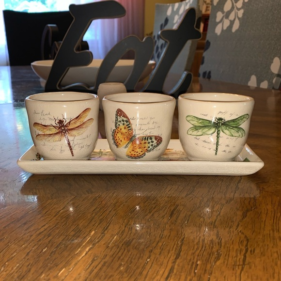 Yankee candle holder with matching tray